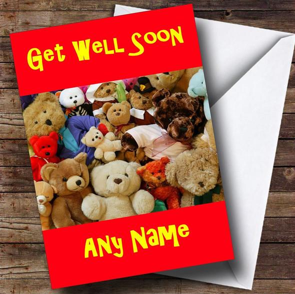 Teddy Bears Personalised Get Well Soon Card