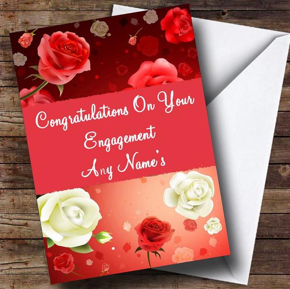 Beautiful Roses Personalised Engagement Card