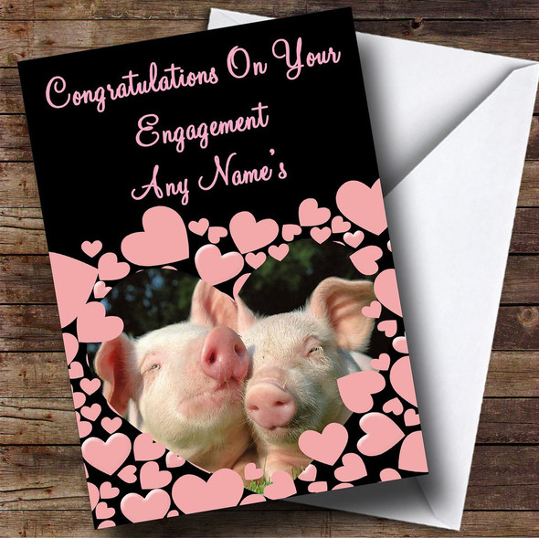 Pig Personalised Engagement Card