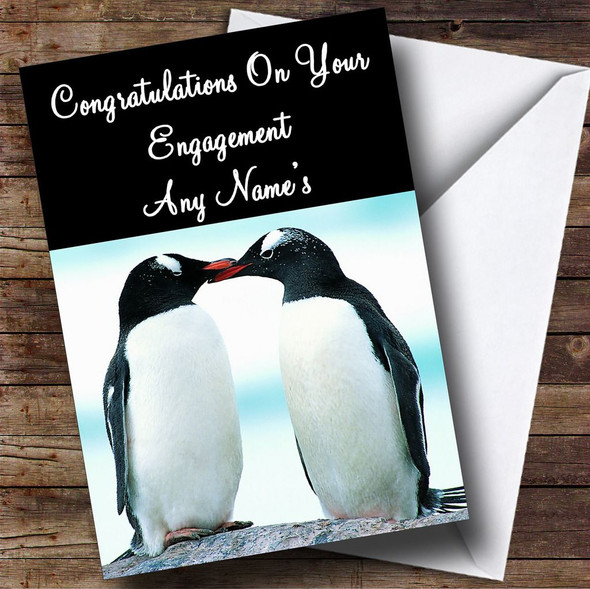 Penguin Personalised Engagement Card