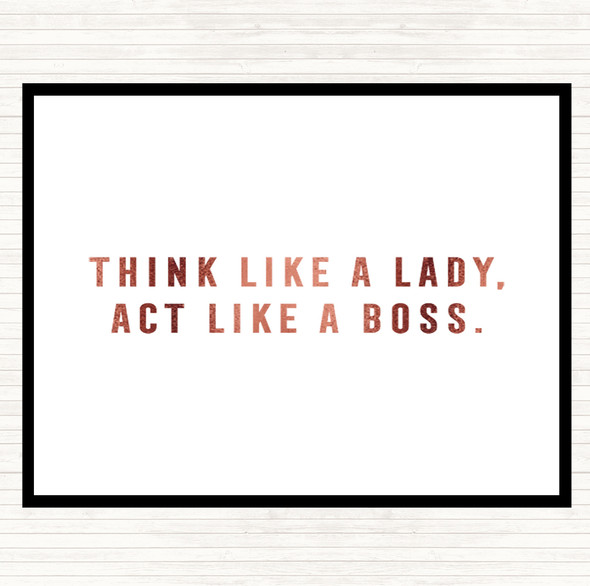 Rose Gold Act Like A Boss Quote Mouse Mat Pad