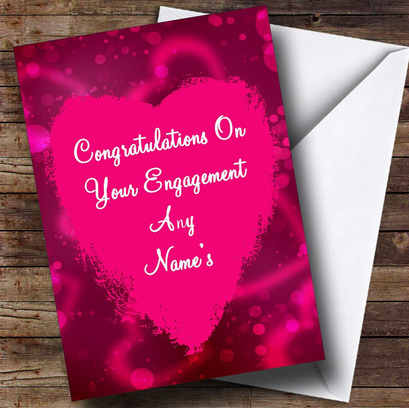 Love Heart Personalised Engagement Card