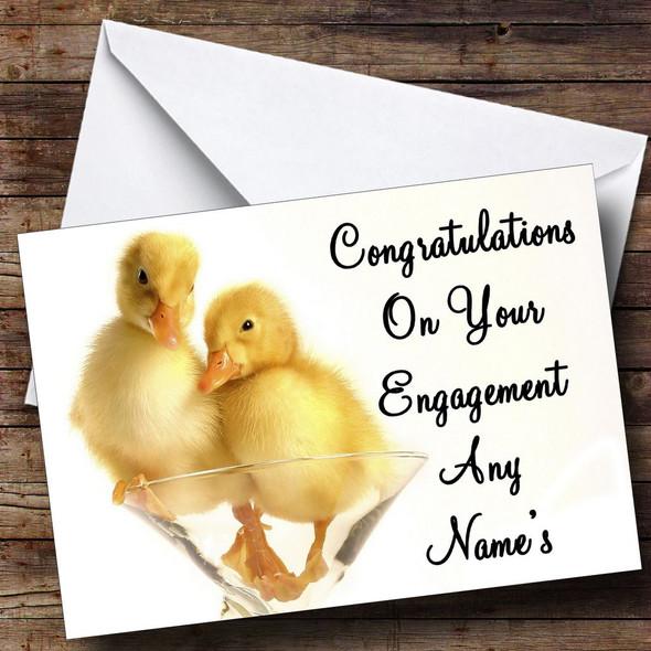 Ducklings Personalised Engagement Card