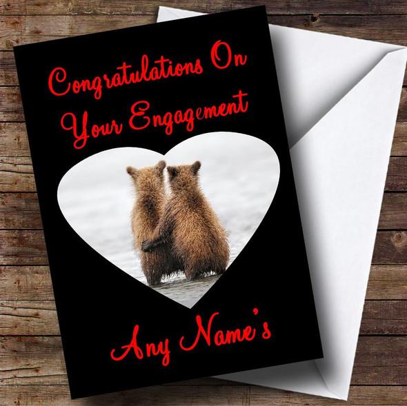 Cuddling Bears Personalised Engagement Card