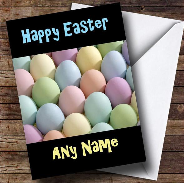 Pastel Eggs Personalised Easter Card