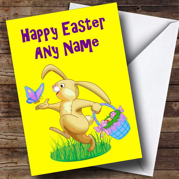 Easter Bunny Personalised Easter Card