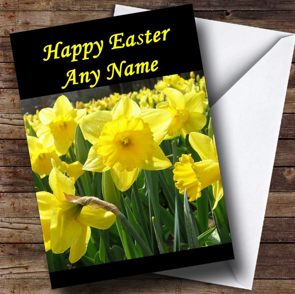 Daffodil Flowers Personalised Easter Card