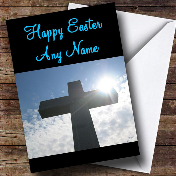 Christian Crucifix Cross Personalised Easter Card