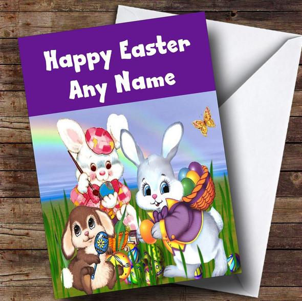 Easter Bunnies Personalised Easter Card