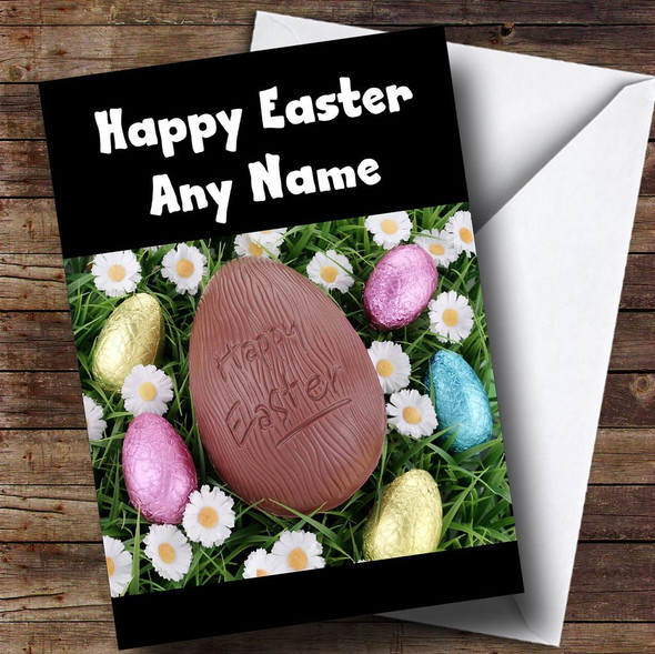 Chocolate Egg Personalised Easter Card