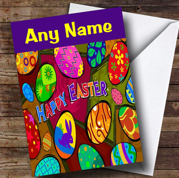 Bright And Colourful Personalised Easter Card