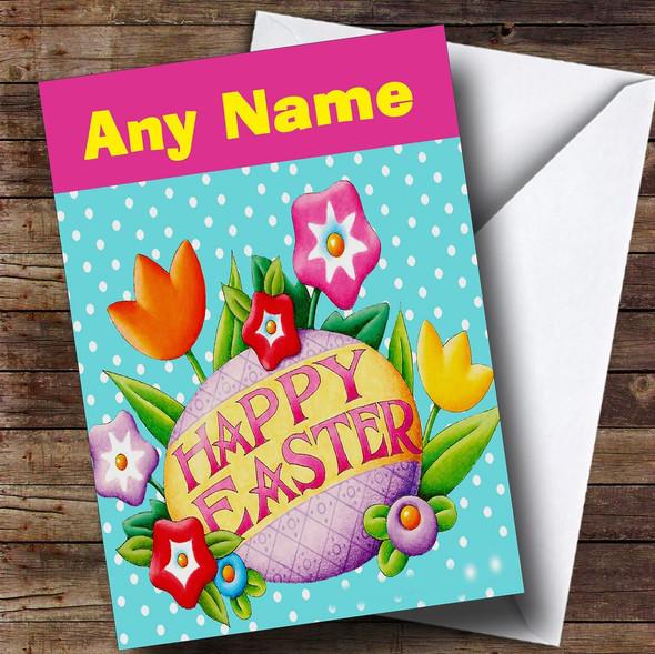 Polka Dot Personalised Easter Card