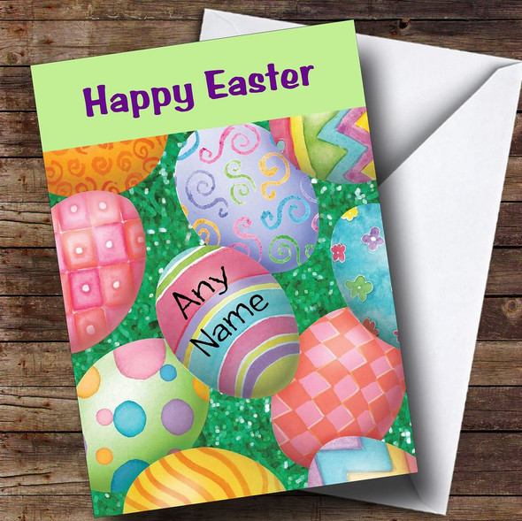 Easter Eggs Personalised Easter Card