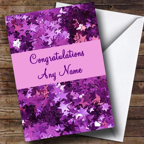 Purple Personalised Congratulations Card