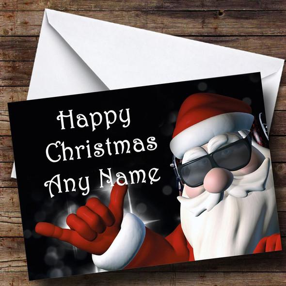 Cool Santa Christmas Card Personalised