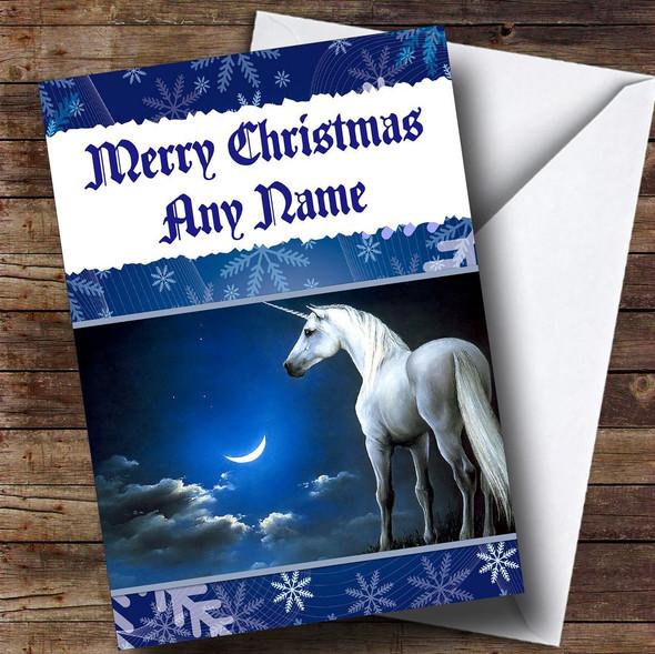 Mystical Unicorn Personalised Christmas Card