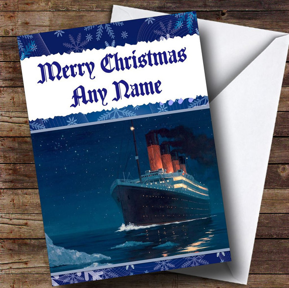 The Titanic Personalised Christmas Card