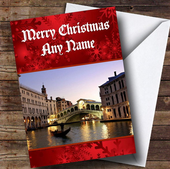 Venice Italy  Personalised Christmas Card