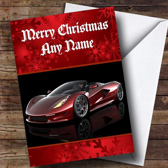 Transtar Dagger Sports Car Personalised Christmas Card