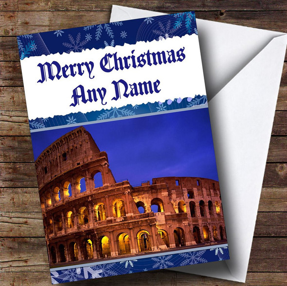Rome Italy Personalised Christmas Card
