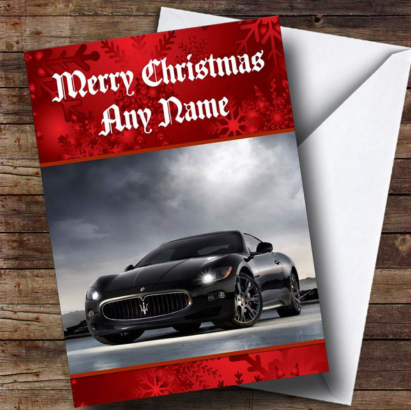 Maserati Granturismo Personalised Christmas Card