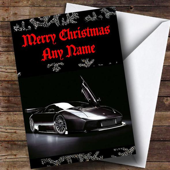 Lamborghini Murcielago Personalised Christmas Card