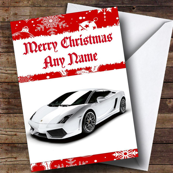 Lamborghini Gallardo Personalised Christmas Card