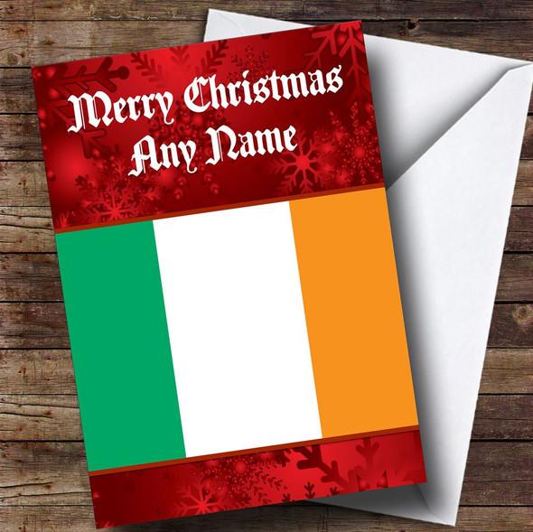 Irish Flag / Ireland Personalised Christmas Card