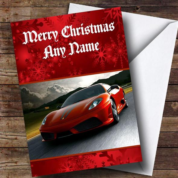 Ferrari Personalised Christmas Card