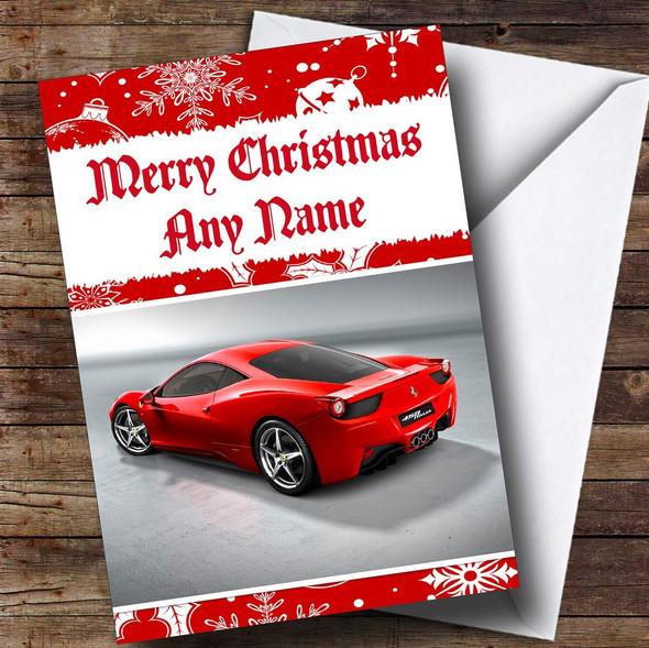 Ferrari Italia Personalised Christmas Card