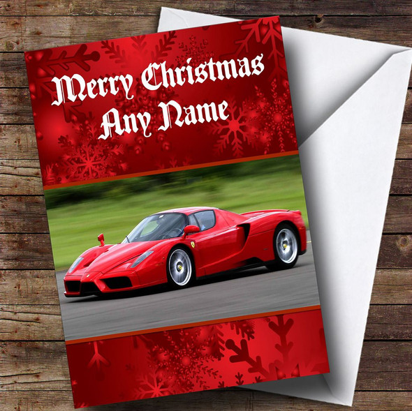 Ferrari Enzo Personalised Christmas Card