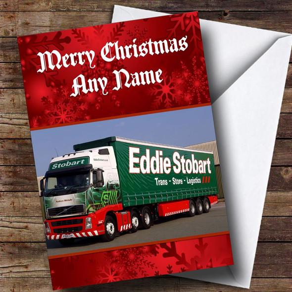 Eddie Stobart Lorry Personalised Christmas Card