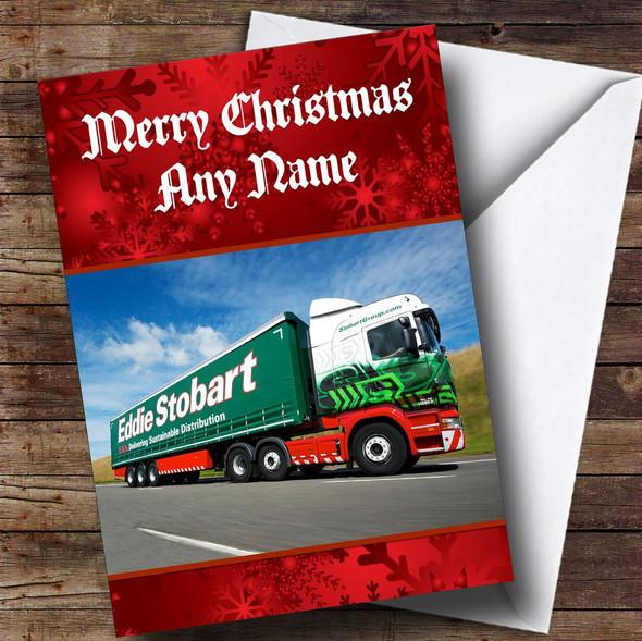 Eddie Stobart Personalised Christmas Card
