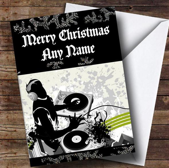 Cool Dj Personalised Christmas Card