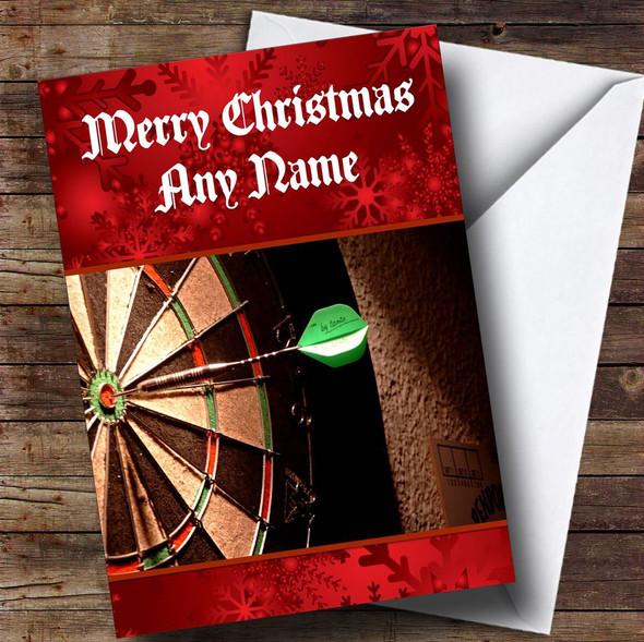 Dartboard Personalised Christmas Card