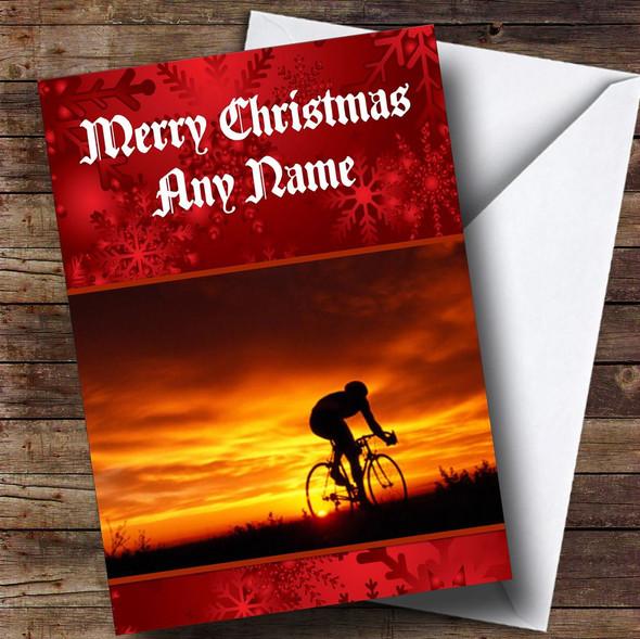 Cycling / Bike Personalised Christmas Card