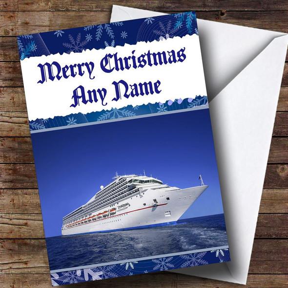 Cruise Ship Personalised Christmas Card