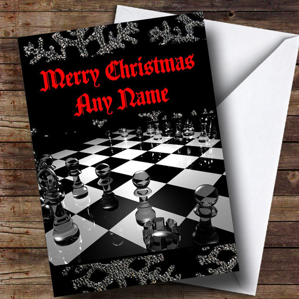 Chess Board Personalised Christmas Card