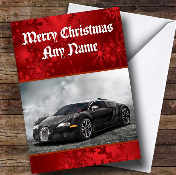 Bugatti Veyron Personalised Christmas Card