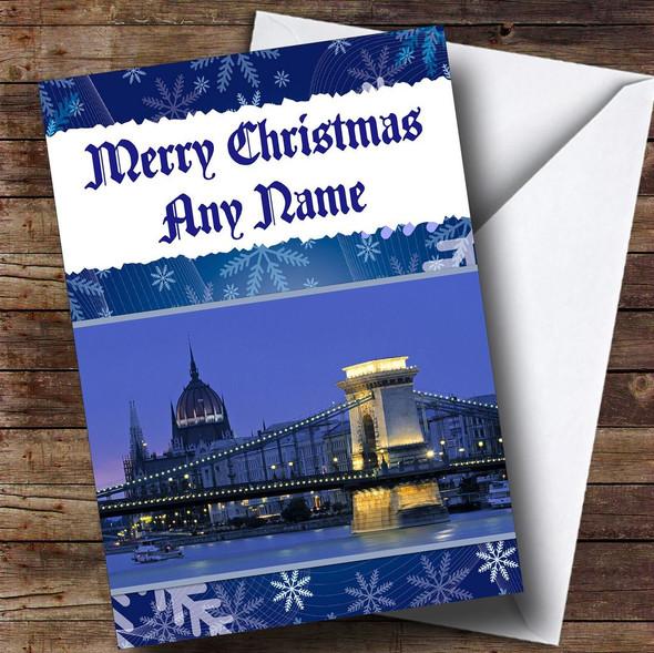Budapest Personalised Christmas Card