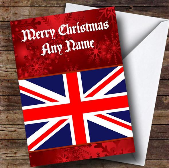 British Flag / Union Jack Personalised Christmas Card