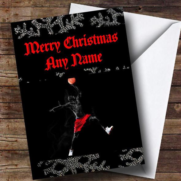 Basketball Personalised Christmas Card