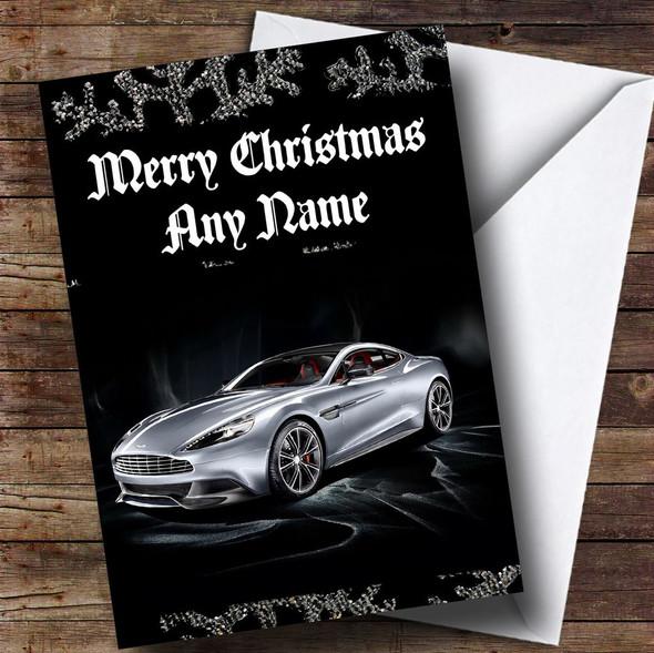 Aston Martin Vanquish Personalised Christmas Card