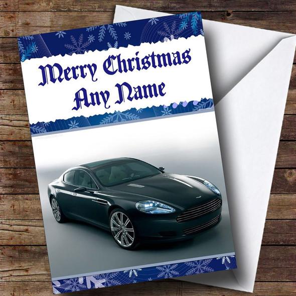 Aston Martin Rapide Personalised Christmas Card
