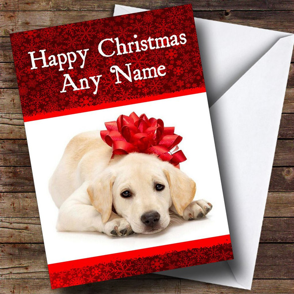Dog Stunning Red Christmas Card Personalised
