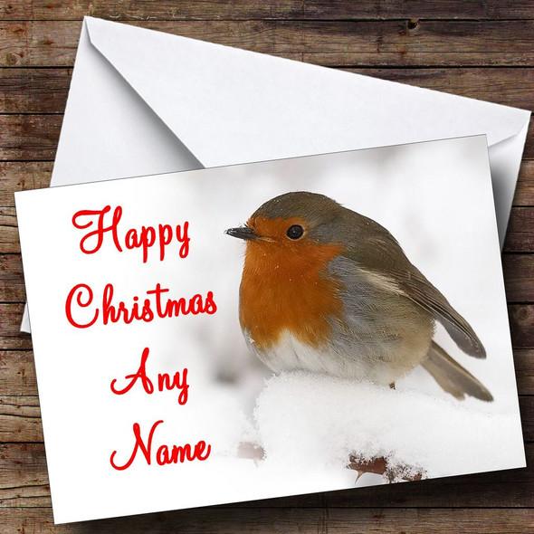 Stunning Robin Christmas Card Personalised