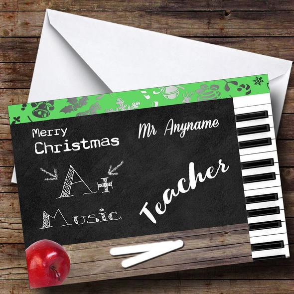 Music Teacher Personalised Christmas Card