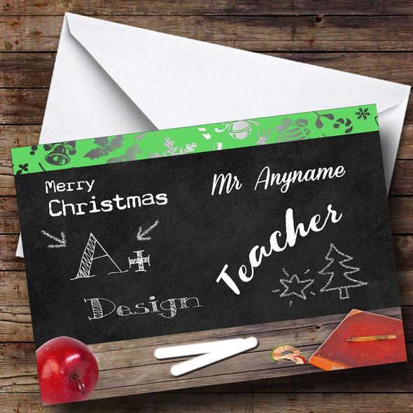 Design Teacher Personalised Christmas Card