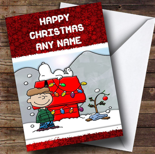 Snoopy Christmas Card Personalised