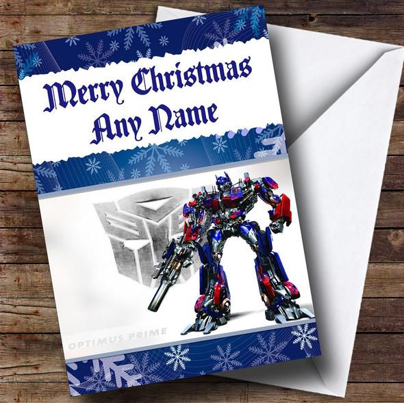 Transformers Optimus Prime Personalised Christmas Card
